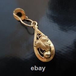 2 boucles oreille or bijoux joaillerie femme Art Nouveau Déco France N4042