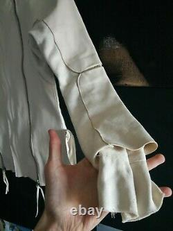 A Tentative Atelier white leather & wool jacket