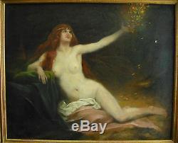 Adrien Henri TANOUX Danaé, Zeus et la pluie d'or Nu de femme art nouveau c1900