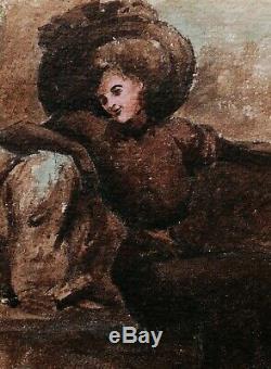 Alfred LOMBARD dessin aquarelle tableau portrait femme Aix-en-Provence art 1900