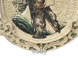 Alphonse MUCHA (daprès) Assiette Art Nouveau Jugendstil Femme Tête Byzantine