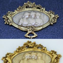 Ancien Art Nouveau Pendentif 18k Or Sculpté Femme Signé Paul Bonnaud (6007)