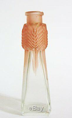 Ancien Flacon A Parfum En Cristal De Julien Viard Art Nouveau