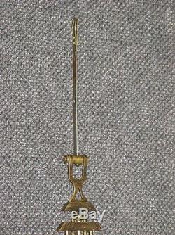 Ancien Pendule Carillon Art Nouveau Bois Femme sur balancier cadran émail
