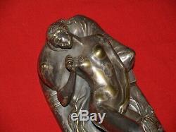 Ancien bronze erotique/curiosa/femme nue