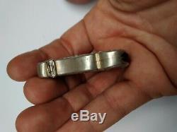 Ancien pyrogène art nouveau en argent massif poinçon HM profil de femme
