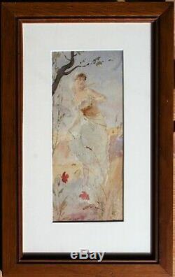 Antoine CALBET, femme, Art Nouveau, dessin, peinture, érotique, Mucha, Chéret