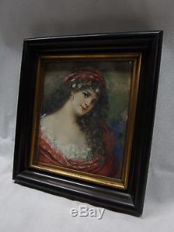 Art Nouveau Aquarelle / Jeune Femme / Tsigane/ Danseuse/ Um 1900 / Signé