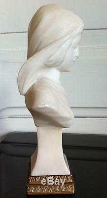 Beau buste Femme Art nouveau Jugendstil Albatre XIXéme