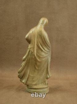 Belle Céramique Sculpture Femme Danseuse Tanagra Gres Art Nouveau