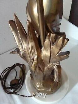 Belle Lampe Femme Art Nouveau Regule Dore Julien Causse 43cms Lamp 1900