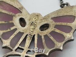 Bijoux pendentif KARL HERMANN femme Art Nouveau en argent et Plique-a-jour
