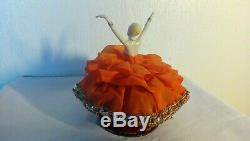 Boite A Poudre Danseuse Tete Femme Et Jambes En Porcelaine Art Deco