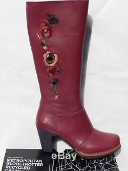 Bottes Art Star 1143 Chaussures Femme 41 Gran Via Cerise Cavalières UK8 Neuf