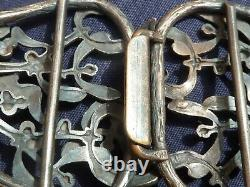 Boucle de ceinture art nouveau gui druide