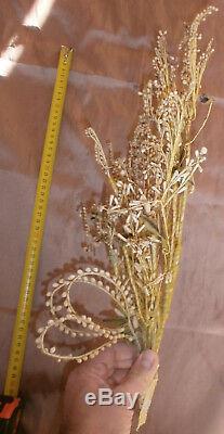 Bouquet de mariée année 30 1932 Fleurs & boutons cire Monogramme L B