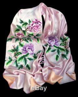 Broderie d'Art Fait Main Foulard en Soie Suzhou Écharpe Étole Mariage Femme #120