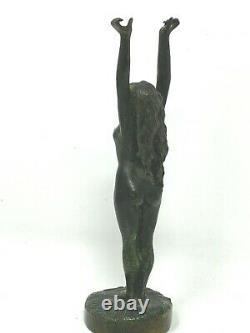 Bronze Art Nouveau & Erotique & Vers 1900 & Femme Nue & Nudité & Statuette
