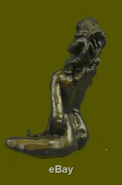 Bronze Chair Femme Sculpture Érotique Abstrait Art Sexuelle Nue Figurine Statue