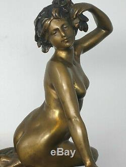 Bronze Jugendstil Art Nouveau Femme Nue Erotique Vers 1900 Antique French