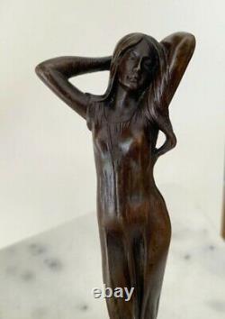Bronze-femme, Art Nouveau Julien CAUSSÉ (1869-1909)