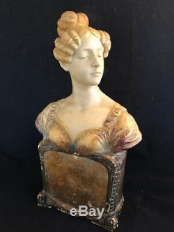 Buste Art Nouveau Femme Dans l'esprit de Goldsheider Jugendstil Vers 1900 SIMON