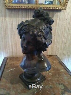 Buste Femme en Bronze Art Nouveau