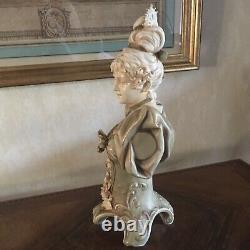 Buste de Femme ART NOUVEAU Porcelaine Autriche