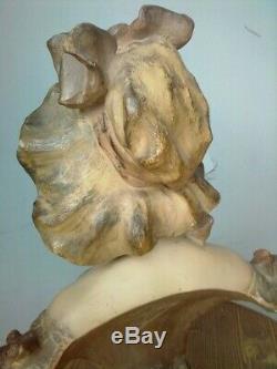 Buste en platre Femme ep1900 art nouveau / Lefebvre
