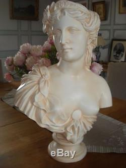 Buste jeune femme par le sculpteur Clesinger reproduction artisanale française