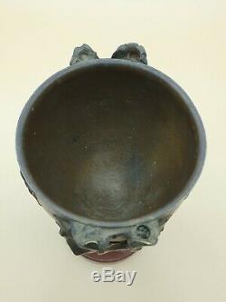 Coupe en bronze dans le gout de art nouveau, frise de femmes et enfants 19 cm