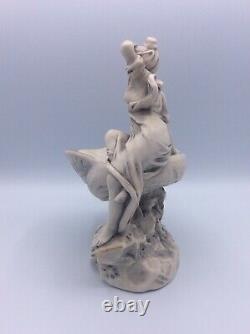 Coupe vide-poches porcelaine de Royal Dux Bohemia à décor de femme Art Nouveau