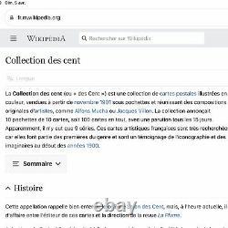 Cpa Collection Des Cent N°10 Illustration Femme Art Nouveau Grégoire / Mucha