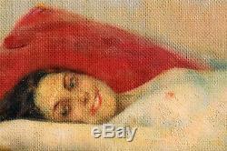 Ecole russe, femme nue, femme, tableau, peinture, érotique, érotisme