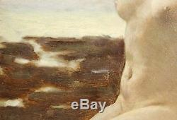 Edouard ZIER, femme nue, tableau, peinture, érotique, Art Nouveau, France