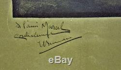 Edouard-alexandre Bernard, Lithographie, Affiche, Art Nouveau, Femme Nue, Signee