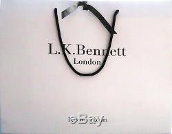 Escarpins Cuir Vernis Noir L. K. Bennett Point. 38 Cambrure Parfaite Art. Neuf