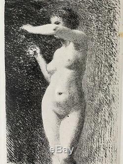 Fantin Latour Gravure Lithographie Etude De Femme Nue Nu