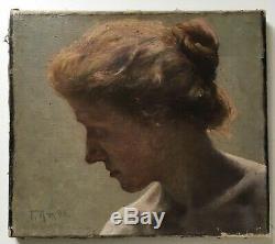 Felix Krause 1872 1943 Portrait Jeune Femme Berlin Art Art-Nouveau Paris