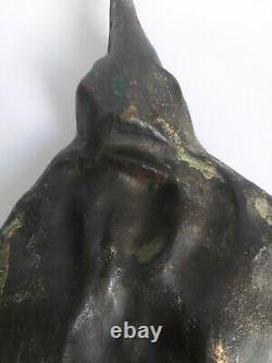 Feuille Art Nouveau Bronze Par Delperier Salon 1900 Femme Grande Taille G2114