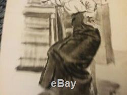 Georges de Sonneville Dessin De Femme. Encre De Chine 1911
