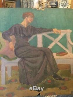 Georges de Sonneville Huile Sur Carton Portrait De Femme. Période Nabis. 1911