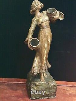 Goldscheider Femme Terre Cuite Art Nouveau