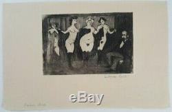 Gravure Cuivre Ludovic-Rodo Pissarro femme Maison close Pigalle Paris 1900