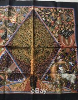 Hermes Carré Neuf Axis Mundi 90 Cm Silk Scarf