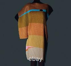 Ikko Tanaka x Issey Miyake Pleats Please Terracotta Face Dress Size 3