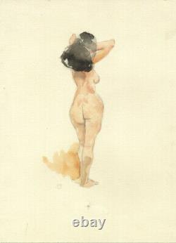JEFF Jeffrey JONES DESSIN ORIGINAL INÉDIT JEUNE FEMME AQUARELLE ORIGINAL ART