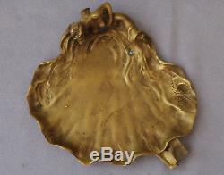 J. DESBOIS & Siot-Decauville Vide Poche Femme Nue Bronze Art Nouveau ca 1900