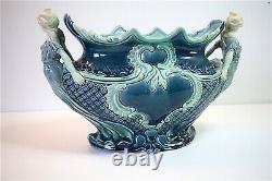 Jardinière Ceramique Art Nouveau Barbotine Femme 1900 Majolica Ceramics