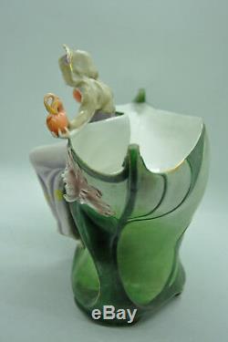 Jardinière coupe barbotine femme déesse antique collection art nouveau